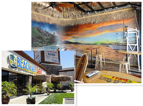 Beach Hut Deli exterior and interior photos - it's all about amazing food, crazy good beers, and having the best time!