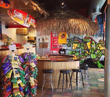 Beach Hut Deli interior photo - inviting atmosphere with a cool beach theme